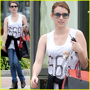 Emma Roberts flaunting her support for Satan.